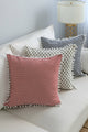 Print Pom Pom Cushion Cover