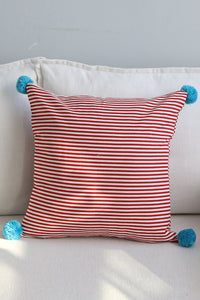 Solid Pom Pom Cushion Cover