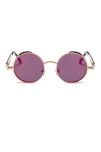 Round Metal Steampunk Sunglasses