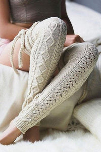 Knit Over Knee High Thigh Socks