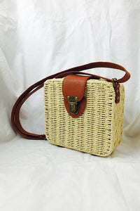Square Straw Crossbody Bag