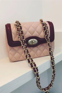 Contrast Color Chain Bag