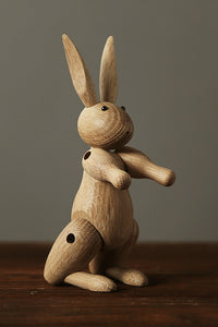 Rabbit Lady Wood Toy Decorate