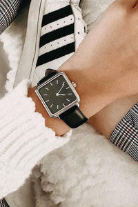 Square Leather Watch