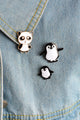 Panda Penguin Pin