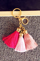 Gold Tassels Key Chain