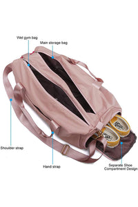 Dry Wet Separated Gym Bag with Shoes Compartmen