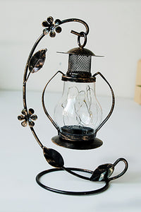 LED Iron-Art Glass Lantern