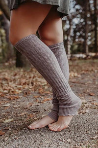 Cable Knit Leg Warmers With Flare