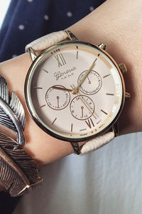 Round Leahter Watch