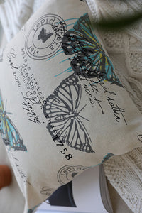 Butterfly Letter Cushion Cover