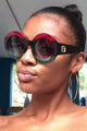Color Block Bling Sunglasses