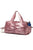 Metallic Gym Ruffle Bag with Shoe Compartment and Wet Pocket
