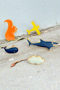 Squirrel Whale Pin
