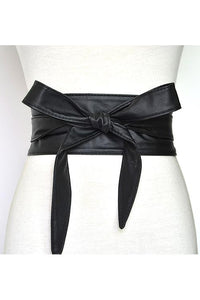 Bow Tied PU Belt