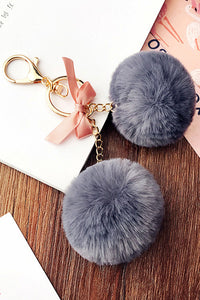 Rabbit Hair Key Chain