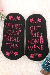 Get Me Some Wine Sock