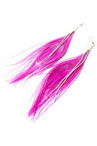 Peacock Feather Earring