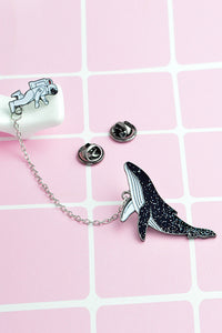Spaceman Cetacean Pin