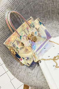 Colorful Laser Clear Crossbody Bag