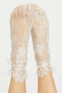 Lace See Though Socks