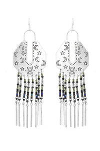 Beads Tassels Metal Earring
