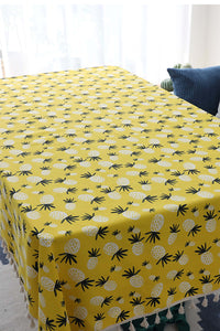 Pineapple Tassels Table Cloth