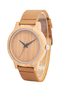 Unisex Wooden Leather Watch