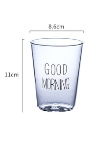 Good Moring Glass Cup