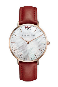 Seashell Leather Watch