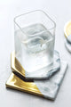 Gold Platting Marble Cup Saucers