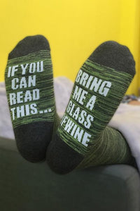Bring Me A Glass Of Wine Sock