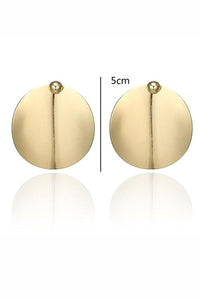 Round Big Earrings