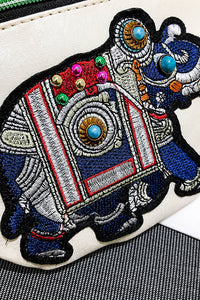 Embroidery Elephant Fanny bag