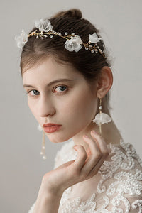 Flower Imitation Pearl Headband