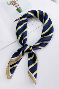 Stripe Ribbon Silk Scarf