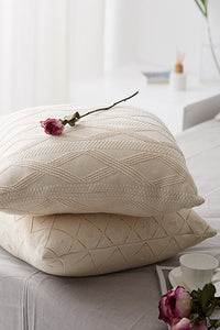 Geometry Knit Cushion Cover