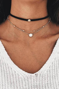 Leather Layers Choker Necklace