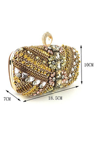 Rhinestone Ring Clutch bags