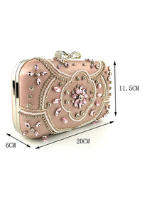 Metallic Beaded Luxurious Clutch Bag