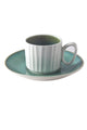Green Creamics Cup With Plate