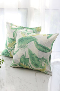 Green Leaf Cushion Cover