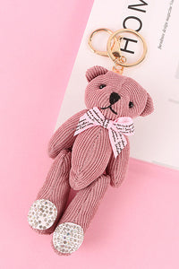 Bow Bear Key Chain