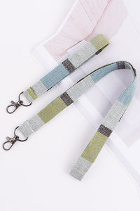 Linen Plaid Lanyard
