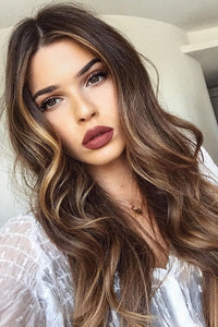 Long Wave Brown Wig