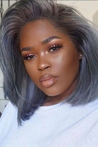 Grey Synthetic Curly Wig