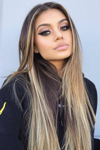 Synthetic Long Straight Hair Ombre  Wigs