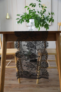 Lace See Though Table Runner