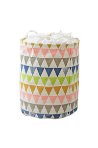 Colorful Triangle Drawstring Storage Bucket