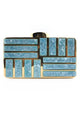 Acrylic Patchwork Clutch Bag